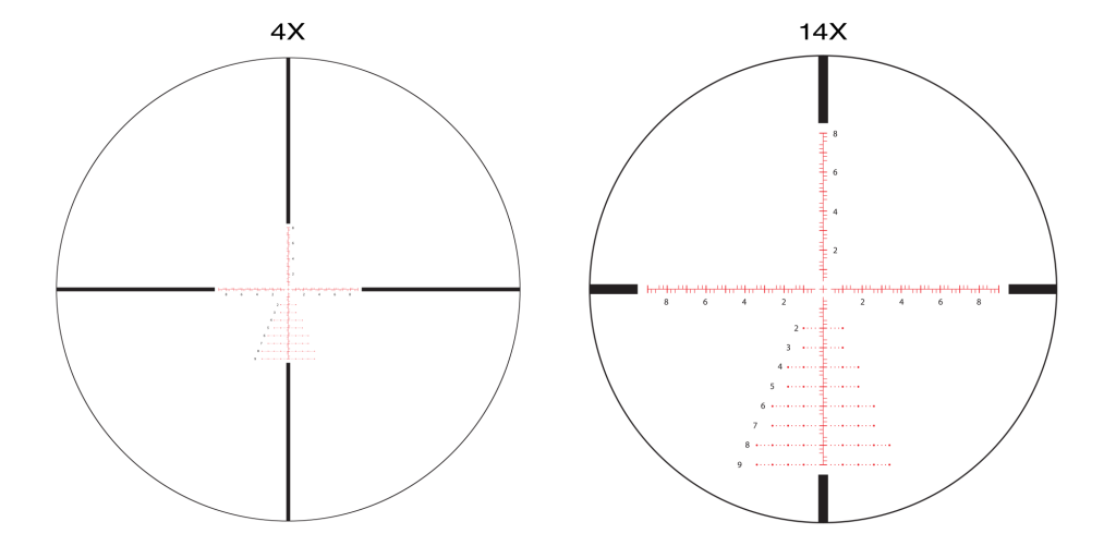 APLR2 FFP IR MIL 4-14x44 reticle