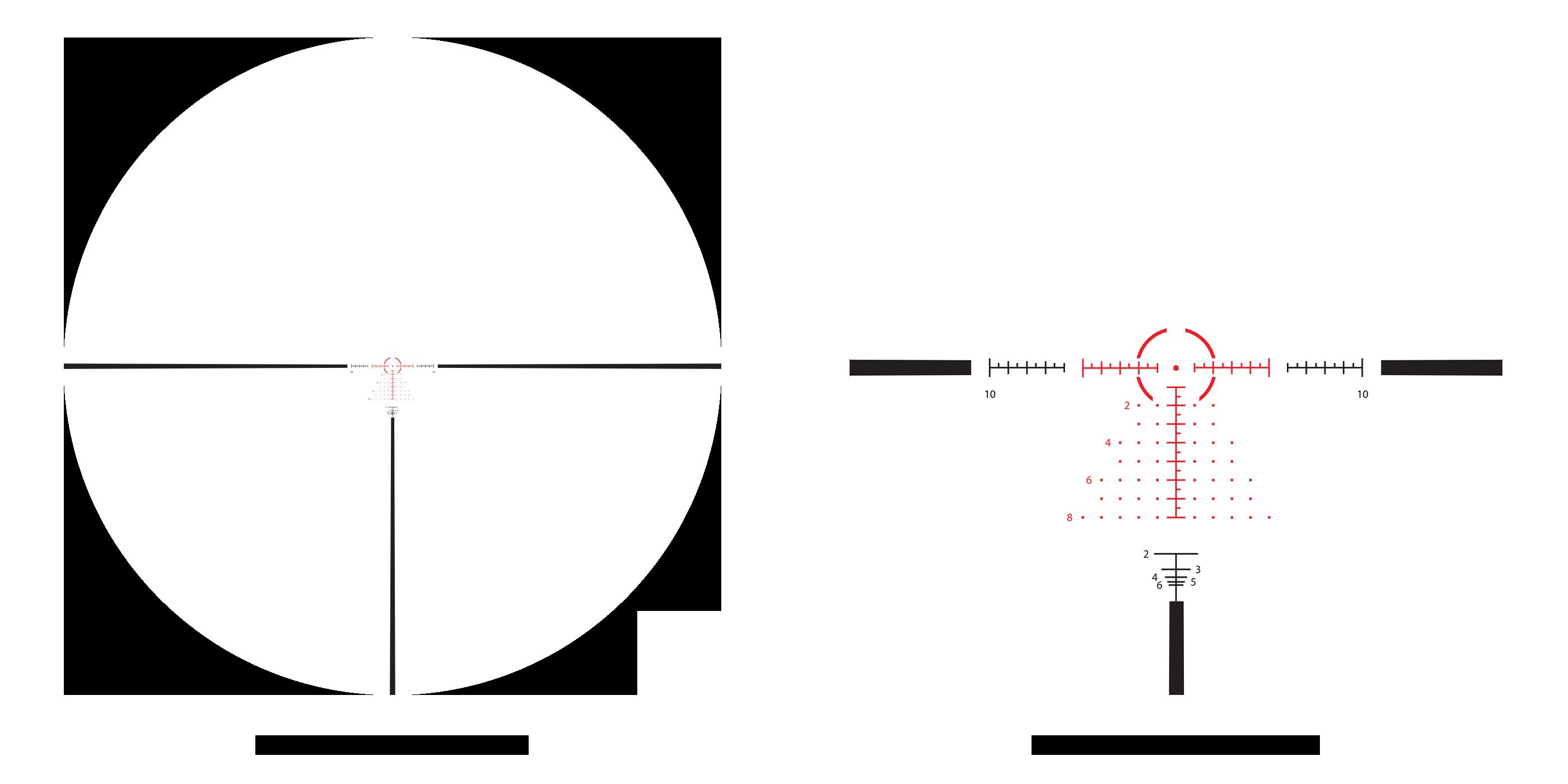 DMR scope with AHMR2 MIL 2x-12x reticle